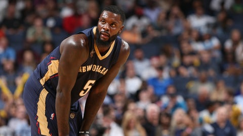 MEMPHIS, TN - NOVEMBER 2:  Lance Stephenson #5 of the New Orleans Pelicans looks on against the Memphis Grizzlies on November 2, 2016 at FedExForum in Memphis, Tennessee. NOTE TO USER: User expressly acknowledges and agrees that, by downloading and or using this photograph, User is consenting to the terms and conditions of the Getty Images License Agreement. Mandatory Copyright Notice: Copyright 2016 NBAE (Photo by Joe Murphy/NBAE via Getty Images)