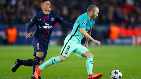 PSG completely overran Barcelona in midfield