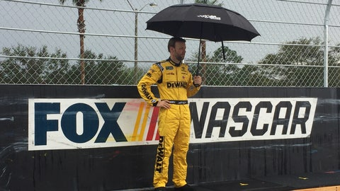 Kenseth in the rain