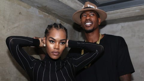 "NEW YORK, NY - SEPTEMBER 12, 2016 Teyana Taylor & Iman Shumpert attend Paper Magazine's ""The Beautiful People"" issue launch party at Guilded Lily, September 12, 2016 in New York City. Photo Credit: Walik Goshorn / Mediapunch/IPX"