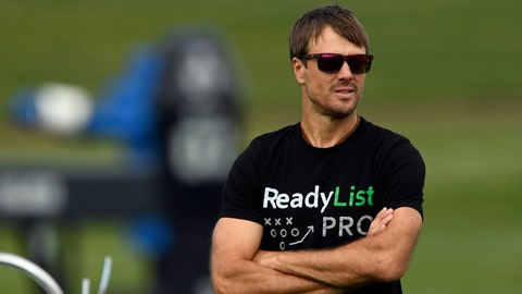 ENGLEWOOD, CO - AUGUST 29: Former Denver Broncos quarterback Jake Plummer takes in practice August 29, 2016 at Dove Valley. (Photo By John Leyba/The Denver Post via Getty Images)