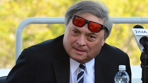 February 13, 2015   Marlins owner Jeffrey Loria during the announcement that Miami Marlins to Host 2017 All-Star Game