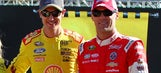 Kevin Harvick, Joey Logano mend fences as Ford teammates