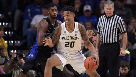 Denver Nuggets: John Collins, PF, Wake Forest (sophomore)