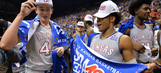 Kansas routs TCU to clinch share of Big 12 title
