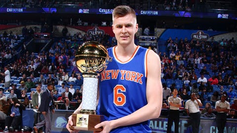 Kristaps Porzingis, selected by Myles Turner of the Pacers