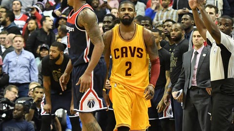 Kyrie gives Cavs OT lead with shot from signature spot