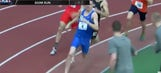 Watch: College runner wins race, sets personal record with one shoe