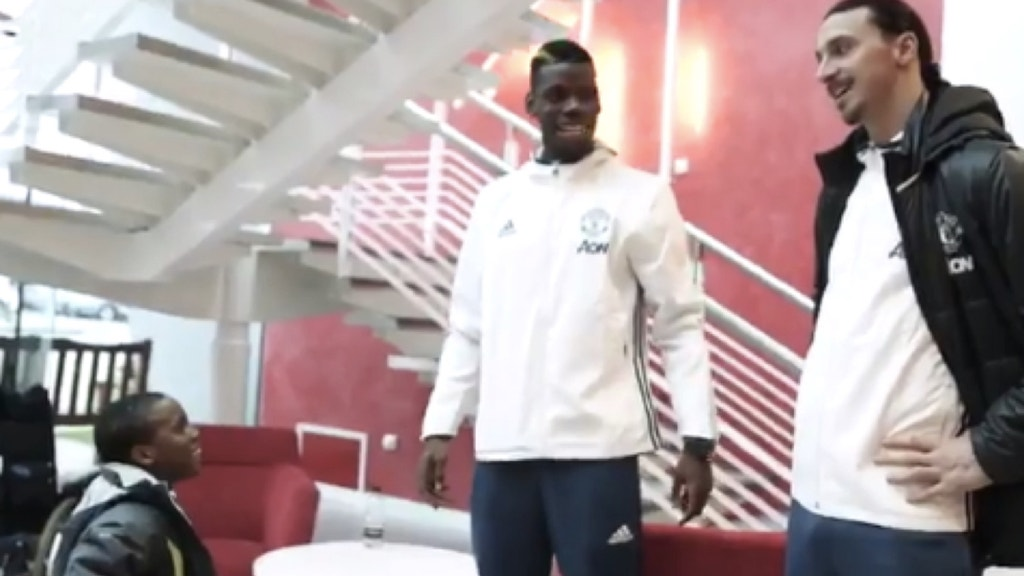 Watch: Paul Pogba, Zlatan Ibrahimovic surprise Manchester