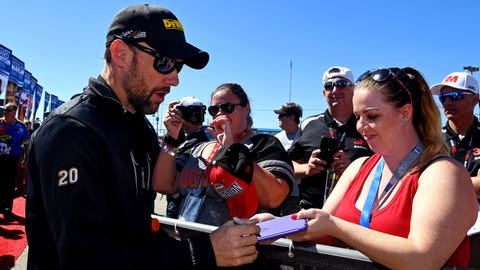 Matt Kenseth Signing Autographs For His Fans