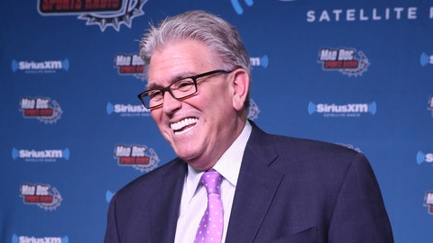 HOUSTON, TX - FEBRUARY 02:  Mike Francesa visits the simulcast from the SiriusXM set at Super Bowl 51 Radio Row at the George R. Brown Convention Center on February 2, 2017 in Houston, Texas.  (Photo by Cindy Ord/Getty Images for SiriusXM)