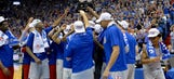 Jayhawks clinch share of Big 12 title with 87-68 win over TCU