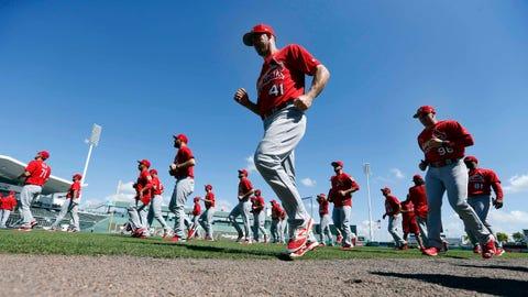 Cardinals warm up