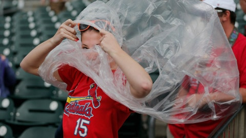 Fan preparing for rain