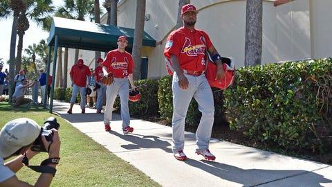 Cardinals take field