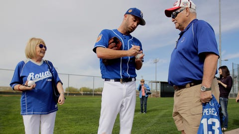 Fans with Danny Duffy