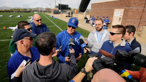 Ned Yost and reporters