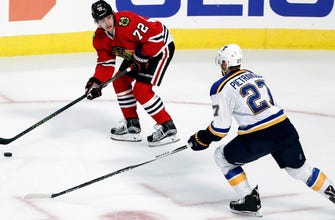 Blues visit Blackhawks still one point out of a playoff spot