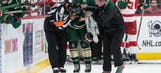 Nyquist suspended 6 games for high-sticking Wild's Spurgeon in face