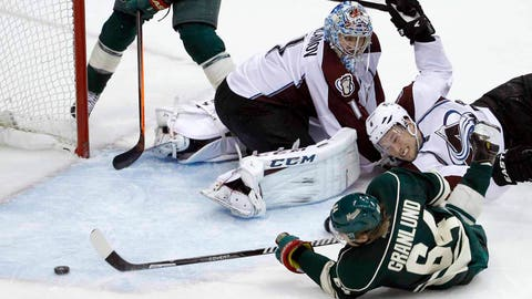 Jan. 19, 2013: Mikael Granlund scores in his first game