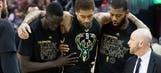 Bucks' Beasley leaves game with knee injury