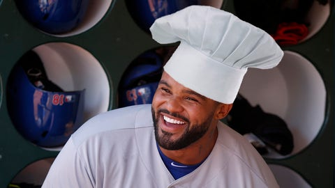 OAKLAND, CA - JUNE 11:  Prince Fielder #84 of the Texas Rangers stands in the dugout before their game against the Oakland Athletics at O.co Coliseum on June 11, 2015 in Oakland, California.  (Photo by Ezra Shaw/Getty Images)