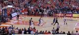 Watch: John Gillon hits buzzer-beating three to upset Duke