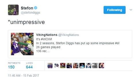 Stefon Diggs, Vikings receiver