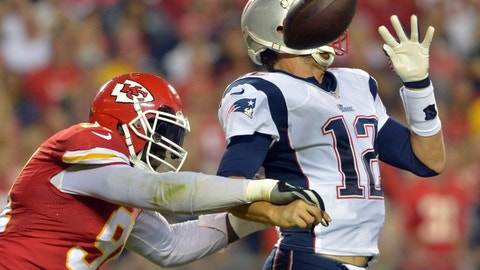 September 7: Kansas City Chiefs at New England Patriots, 8:30 p.m. ET
