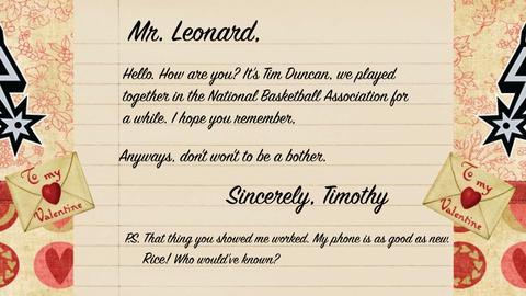 Tim Duncan to Kawhi Leonard