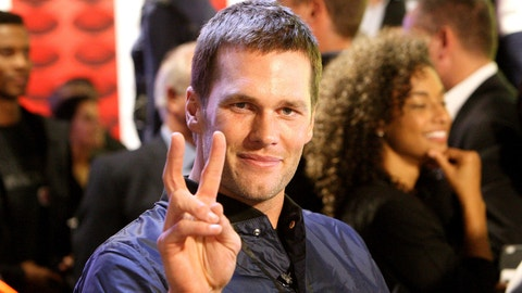 BOSTON - NOVEMBER 2: New England Patriots quarterback Tom Brady while getting ready for an interview at the grand opening of the Under Armour Boston Brand House  at the Prudential Center in Boston on Nov. 2, 2016. (Photo by John Blanding/The Boston Globe via Getty Images)