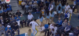 Scary cheerleading injury only gets worse when rescuer slips and falls