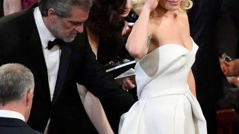 Lady Gaga middle finger on-air