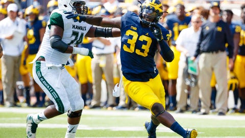 38. Los Angeles Chargers: Taco Charlton, DE, Michigan