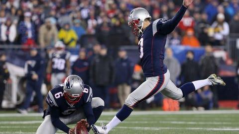 Kicker: Stephen Gostkowski, Patriots ($4,300,000)