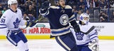 Blue Jackets' offense erupts in 5-2 win over Maple Leafs