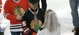 Blackhawks and Wild fan get married in a very confusing wedding before game