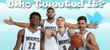 Timberwolves players play Who Tweeted It?