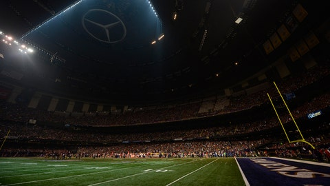 The Superdome light switch at Super Bowl XLVII