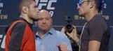 Khabib Nurmagomedov, Tony Ferguson face off during intense staredown ahead of UFC 209