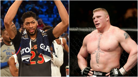 Anthony Davis — Brock Lesnar