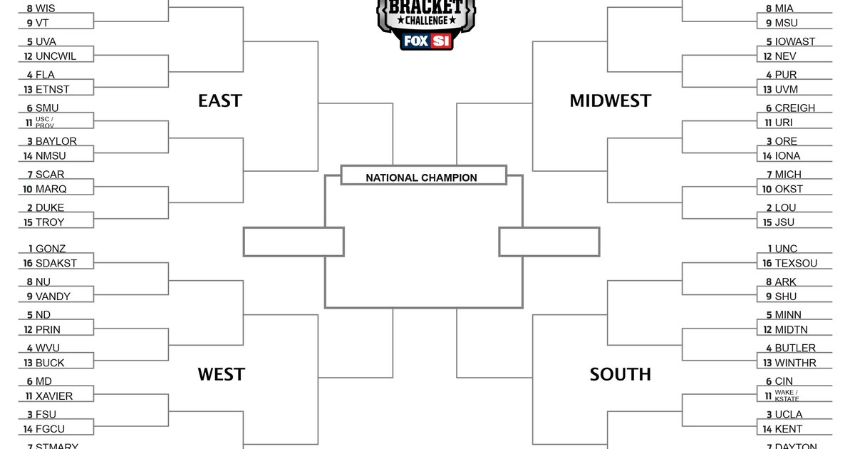 NCAA Tournament Bracket See The Full Field Of 68