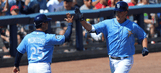 Gillaspie homers as Rays, Red Sox play to tie