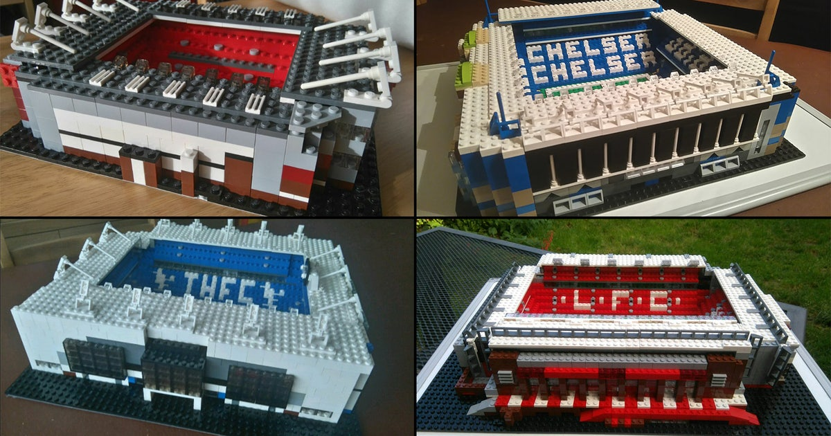Check out these famous English soccer stadiums recreated with Lego ...