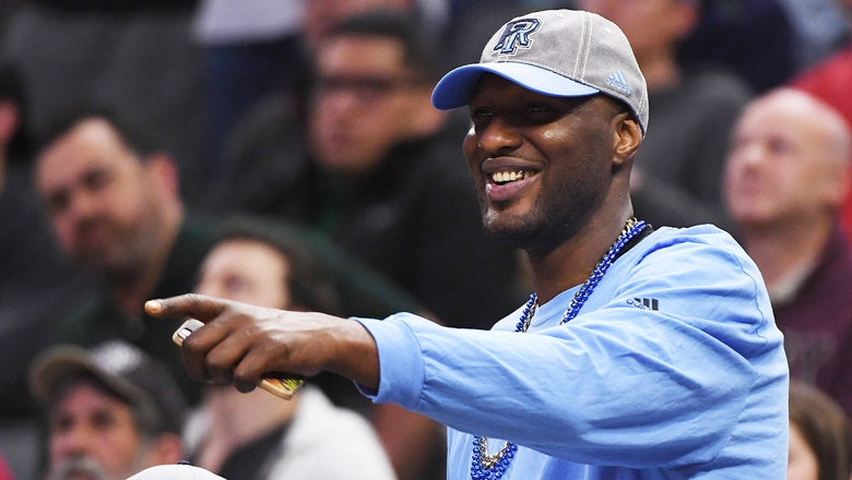Rhode Island players 'went crazy' over Lamar Odom's surprise appearance