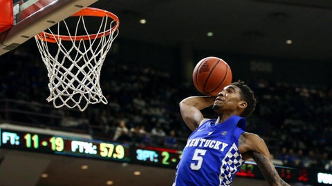 Approx. 9:40, CBS: No. 2 Kentucky vs. No. 15 Northern Kentucky