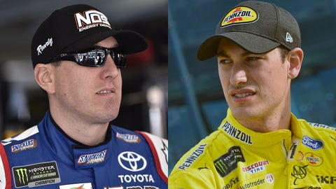 Who will have the better day, Kyle Busch or Joey Logano?
