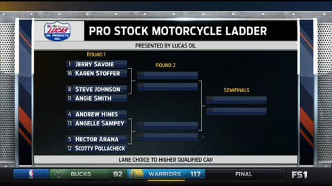 Pro Stock Motorcycle - left side