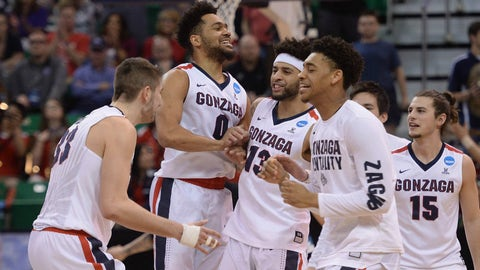 7:39, TBS: No. 1 Gonzaga vs. No. 4 West Virginia