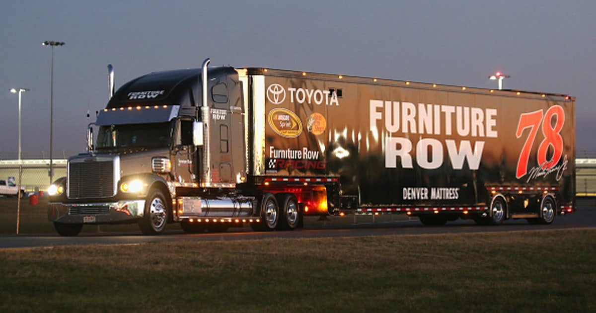 furniture row racing. furniture row racing hauler suffers damage in hit-and-run accident | fox sports